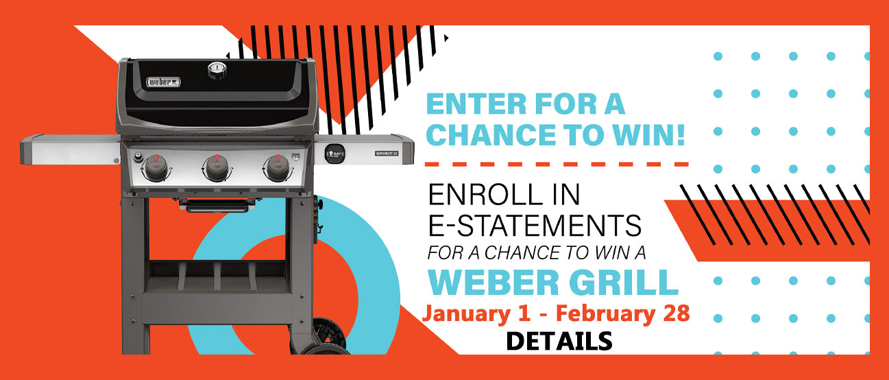 Enroll in estatemetns for a chance to win a webber grill